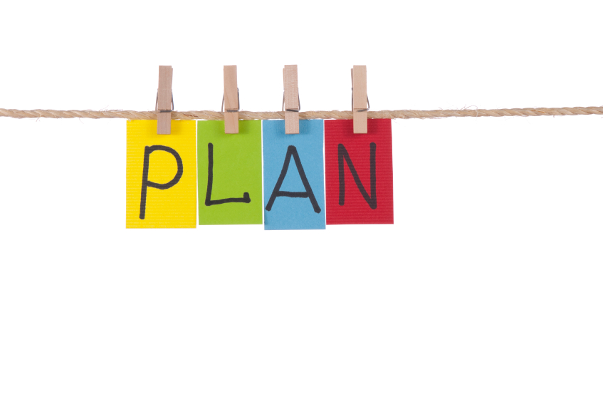 Plan, Wooden peg  and colorful words